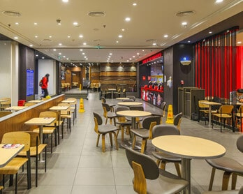 Fast food restaurant furniture case