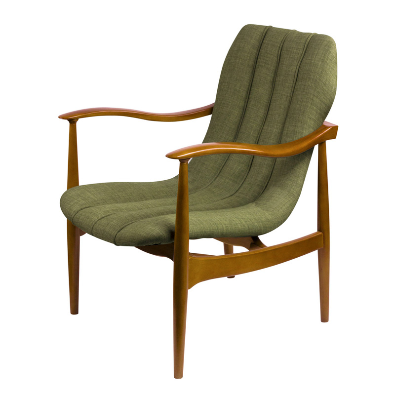 Ash wooden lounge chair