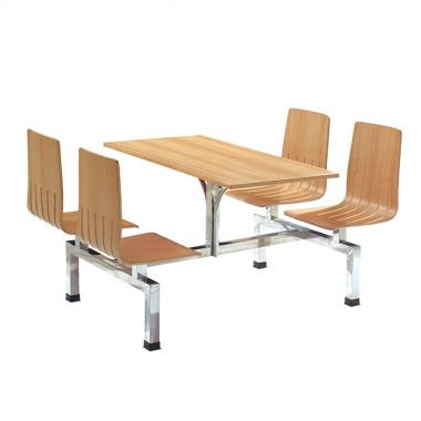 Canteen stainless steel dining table