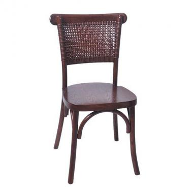 Solid wood wicker chair