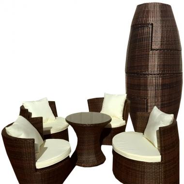 Outdoor rattan garden stackable furniture