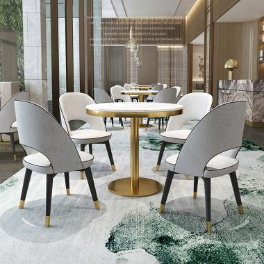 Metal light luxury table and chair