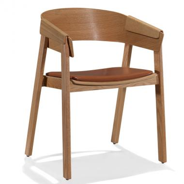 Creative curved wood designer chair